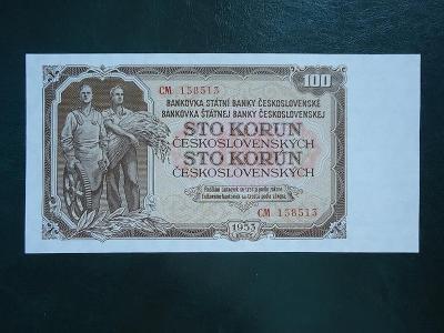 100 Korun 1953 Serie CM  Neperforovana UNC