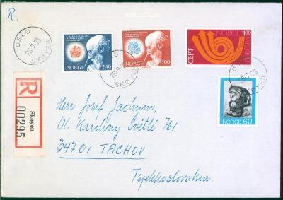 17B533 R dopis Oslo, Norsko - Tachov, dekorativní