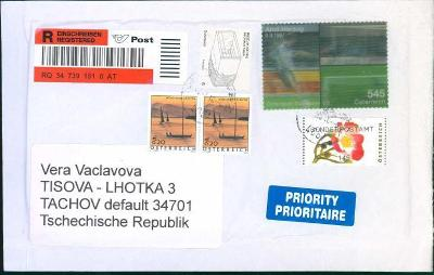 13B519 Dopis Seewalchen, Rakousko - Tachov, mimořádná známka