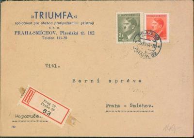 12B233 Firemní dopis TRIUMFA Praha na  berní úřad Praha