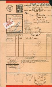 2A288 ČSD nákladní list Bohata Žamberk