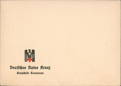 12B867 Dopis s přítiskem Německý červený kříž Trutnov - mimořádné RR!