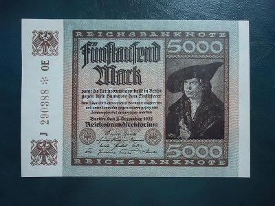 5000 Mark 1922 UNC