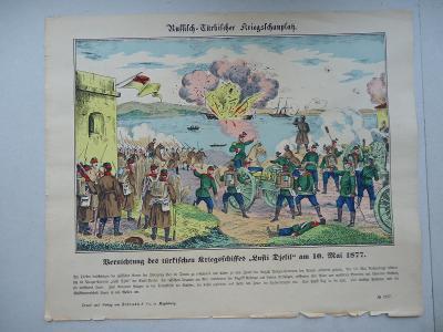 Russich - Türkischer  Kriegsschauplatz - am 10 Mai 1877.....33 x 40 cm