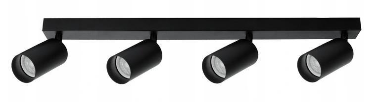 SPOT 4 LED BAR - moderní stropní světlo lustr - ČERNÁ / BÍLÁ