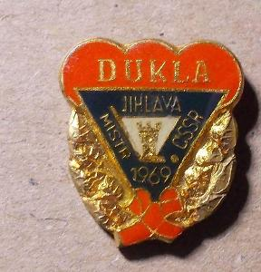 odznaky hokej  Dukla Jihlava Mistr 1969