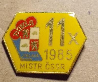 odznaky hokej Dukla Jihlava Mistr 1985