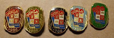 odznaky hokej Dukla Jihlava 1986