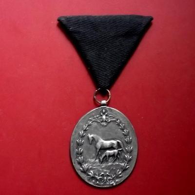 Kovová medaile Císař František Josef I. 1848-1898 s Koňmi na stuze