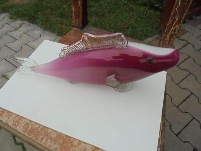 Socha ryba sklo