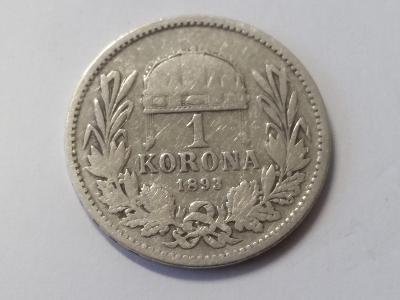 Rakousko-Uhersko FJI - 1 koruna - 1893 KB