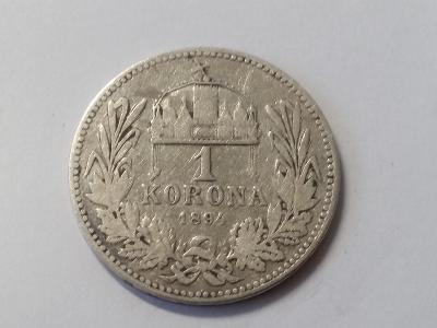 Rakousko-Uhersko FJI - 1 koruna - 1894 KB