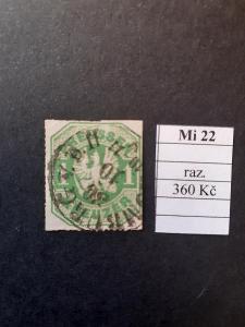 Preussen Mi 22 razítkované