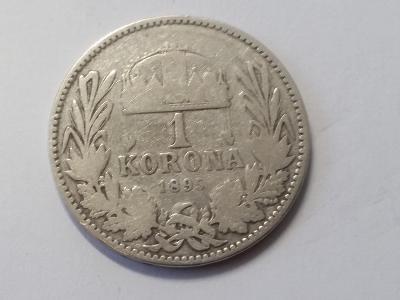 Rakousko-Uhersko FJI - 1 koruna - 1895 KB