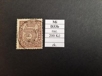 Deutsches Reich Služební Mi D33b razítkované zkoušené