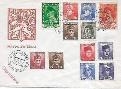Pamětní obálka Háj ve Slezsku 1945