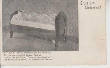 Lipová (Nieder-Lindewiese), muž v posteli