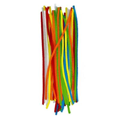 Plyšový drátek - mix barev - 40 kusů