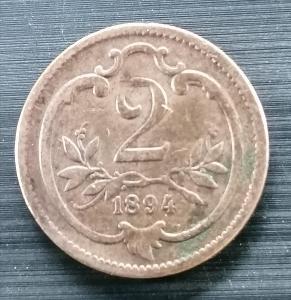 2 haléř 1894