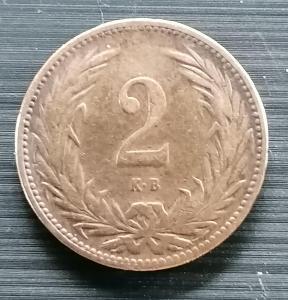 2 fillér K+B 1895