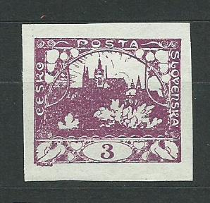 ČSR I. - rok 1918, jednotlivá známka