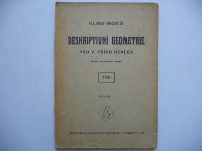 Deskriptivní geometrie pro V. třídu reálek - Josef Klíma - 1946