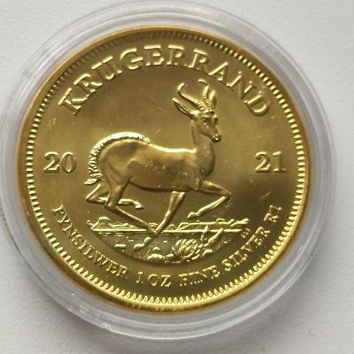 Stříbrná investiční mince Krugerrand 1 Oz 2021