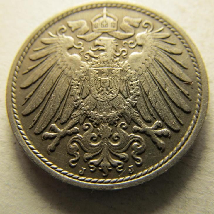Německo, Kaiser Reich , 10 pfennig z roku 1914 J - Numismatika