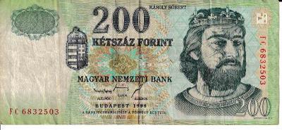 Maďarsko 200 Forint 1998