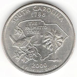 1/4 Dollar 2000 D - South Carolina, USA