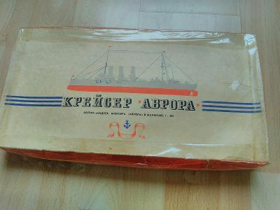 Ruský model křižníku Aurora.