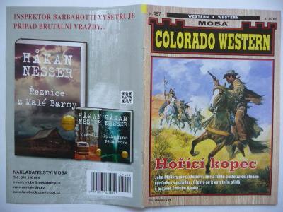 Sešitový román - Colorado Western - svazek 497. - Hořící kopec