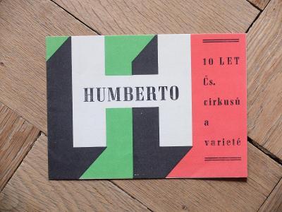 CIRKUS HUMBERTO 10 LET ČS. CIRKUSŮ A VARIETÉ 1961 60. LÉTA TOP STAV!