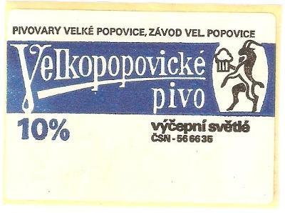 PE pivovar Velké Popovice (samolepka)