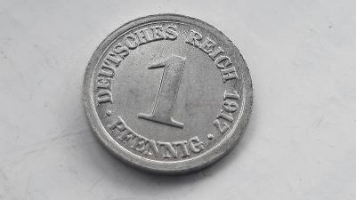1 Pfennig 1917 D  KRÁSNÝ