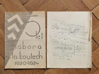 KOUTY TÁBOR 1930-34 BRANDÝS CHOCEŇ OUCMANICE HAVEL RARITA! 2ks