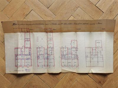 MĚLNÍK 1937 NÁVRH PLÁN DOMU MATIEGKOVÁ LUDMILA ARCHITEKT KAREL NOVÁK
