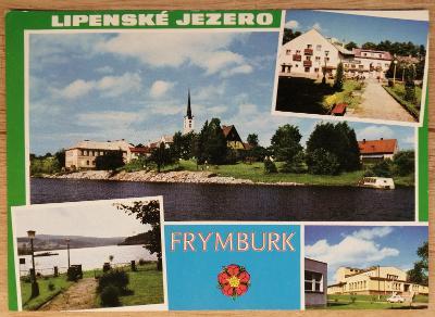 Pohlednice okénková 1972 - Lipenské jezero - Frymburk