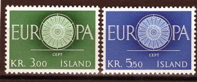 EUROPA CEPT Island Mi 343-4**