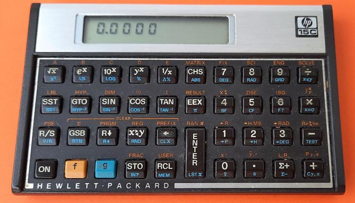 Kalkulátor Hewlett Packard HP 15C - Historické počítače