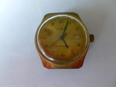 Starožitné pánské náramkové hodinky Ruhla Antimagnetic - GDR