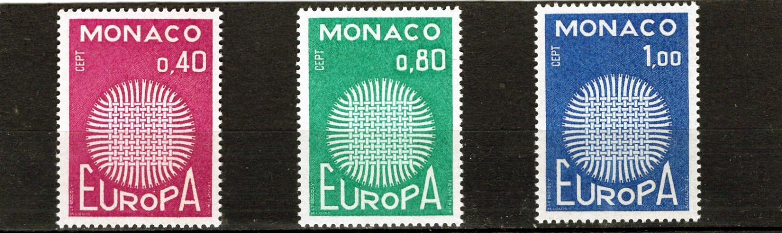 EUROPA CEPT - Monako Mi 977-9** - Filatelie
