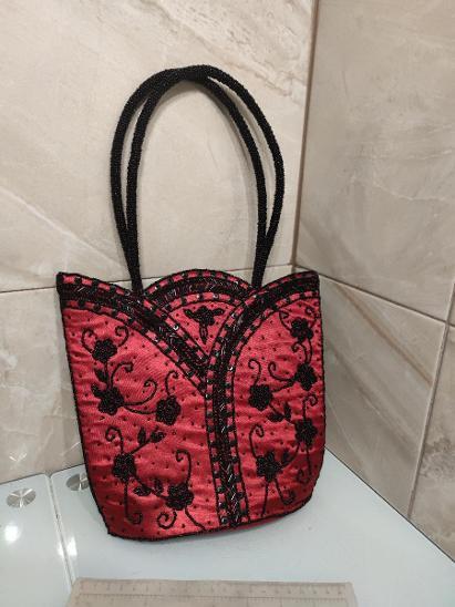 Stara korálková kabelka - Starožitnosti