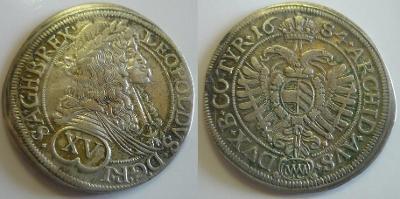 Leopold I. - Wien - XV krejcar 1684
