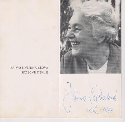 Jiřina Šejbalová - Podpis !!