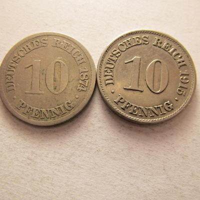 Kaiser Reich, sada 10 pf. - 1874-1915 A-Berlin, 28 kusů, pod 10 Kč/kus