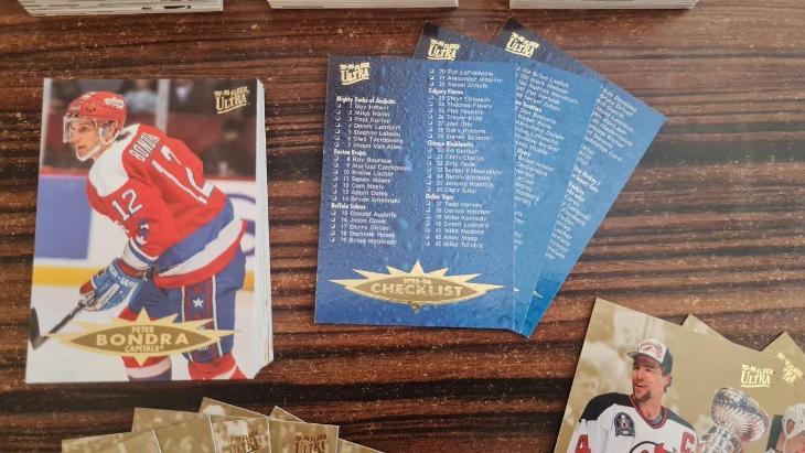 1995-96 Ultra - komplet set S1 (200ks) - 100% stav - Sportovní sbírky