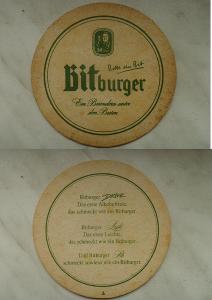 STARÝ PIVNÍ TACEK Z POZUSTALOSTI      -  BITBURGER
