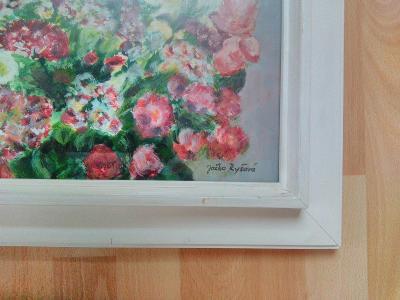 Akademická malířka Jožka Ryšavá, Kytice květin.