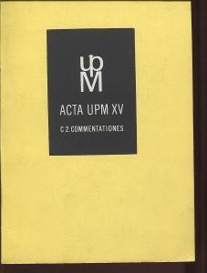 Acta UPM XV./1980. Sborník statí na počest 60. výročí